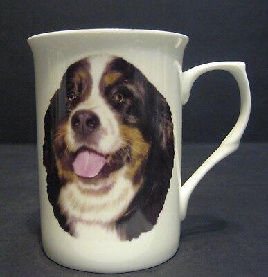 Fine Bone China Mug Personalized with any name added free Bernese mountain