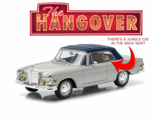 """Greenlight 1969 Mercedes Benz 280 SE with Tiger from /""""The Hangover/"""" 1//43 Scale"""