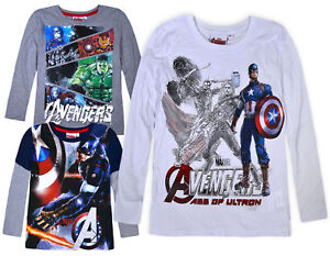 Boys-New-Avengers-Long-Sleeve-Marvel-Top-Kids-Cotton-T-shirt-Age-6-8-10-12-Years