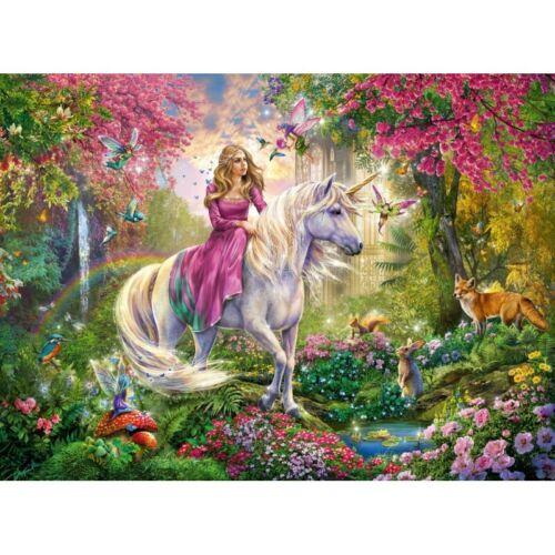 Ravensburger Magical Ride 100 piece unicorn fairy fantasy jigsaw puzzle 6+ NEW