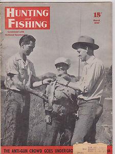 March 1947 hunting and fishing magazine hula dancer lure for Hunting and fishing magazine