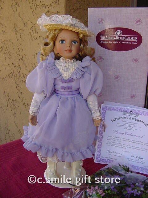 Ashton Drake Porcelain Doll *SPRING ENCHANTMENT* Ltd Ed MIB w/COA Ret RARE!!