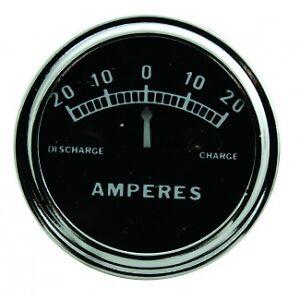Ammeter-Amp-Meter-20-0-20-Plain-6v-6-Volt-or-12v-12-Volt-Hot-Rat-Rod