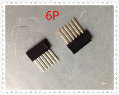 10pcs 6Pin 2.54 Female Stackable Tall Pin Header Connector Socket for Arduino