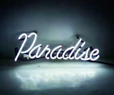 'Paradise' Vintage Neon Light Sign Hand Craft Real Glass Beer Pub Store Decor