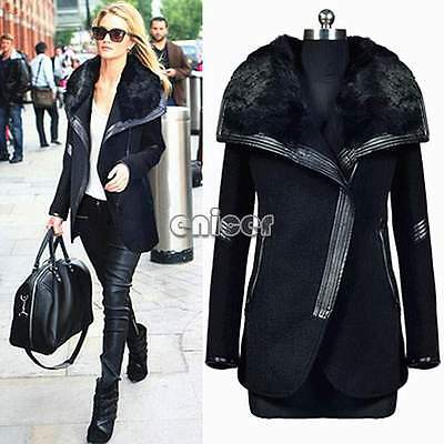 chaqueta de cuero abrigo de piel de invierno parka abrigo trench de las mujeres