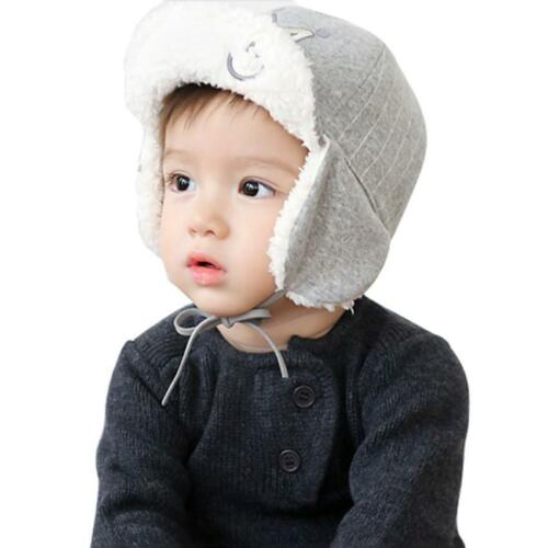 Cute Baby Embroidery Crown Hat Long Ear Winter Warm Earflap Cap For Kids Gifts