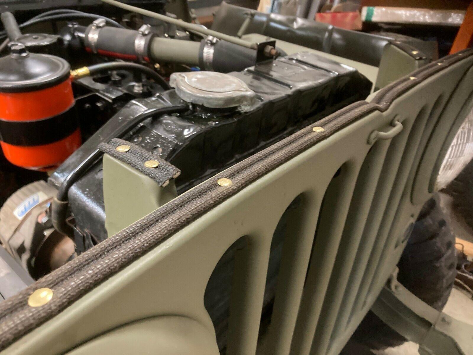 Fits Willys MB GPW CJ2A early CJ3A M38 jeep Grill Felt Seal CORRECT
