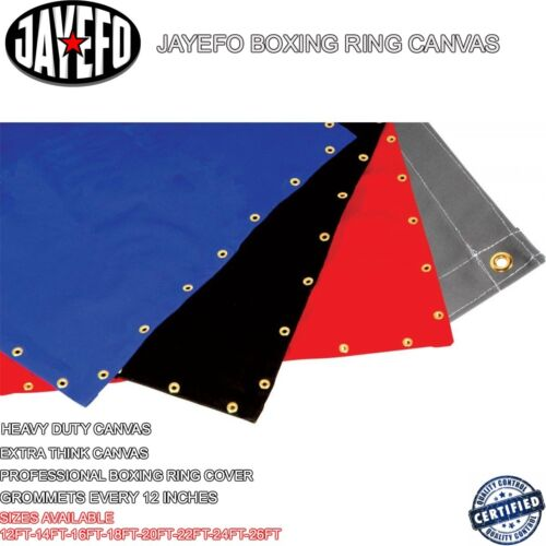 JAYEFO PRO 20 FT BOXING RING CANVAS SUPER HEAVY DUTY MMA WWE KARATE JUDO TKD