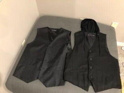 A12 size small medium Mens Rio Red /& Ivory Swirl Waistcoat vest UK large