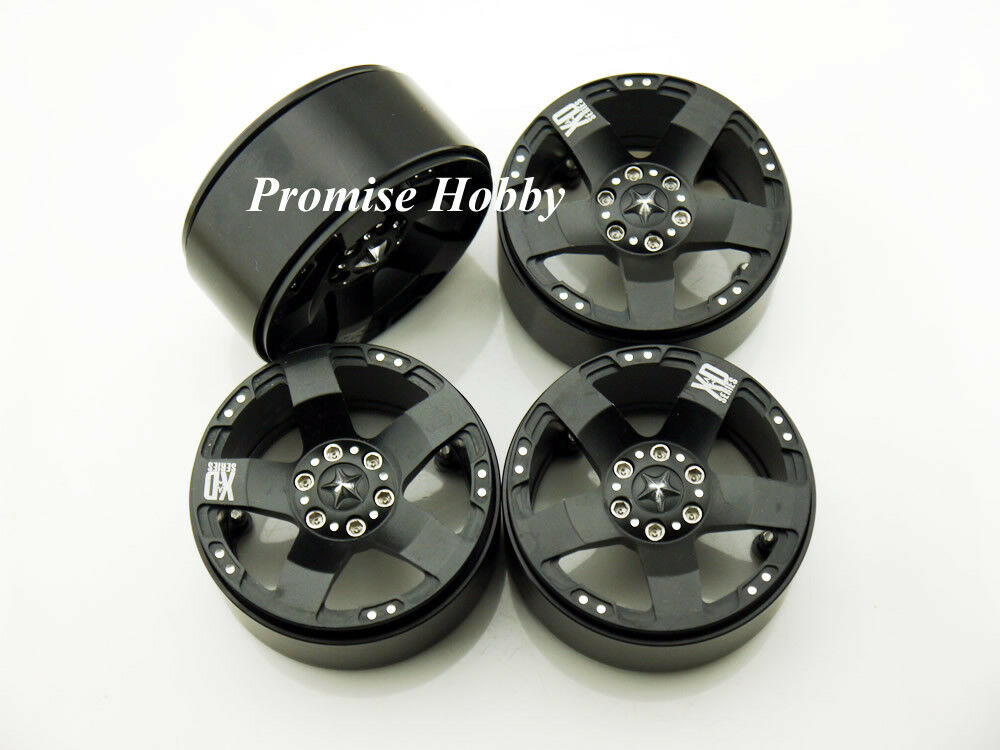 5S 2.2 Aleación beadlock rueda llanta para 1 10 RC oruga axial AX10 RC4WD Losi Negro