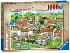 Ravensburger-Jigsaw-Puzzle-RURAL-RETREAT-Village-Country-Nature-1000-Piece
