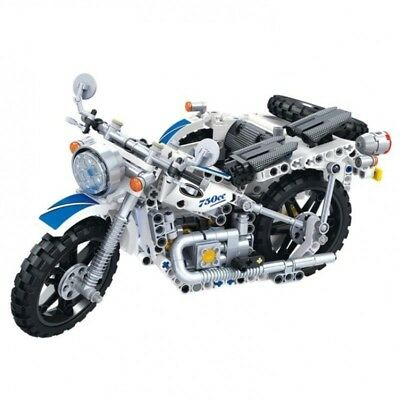 1:6 Scale Harley Davidson Chopper Motorcycle Technical Brick Model 378 pieces
