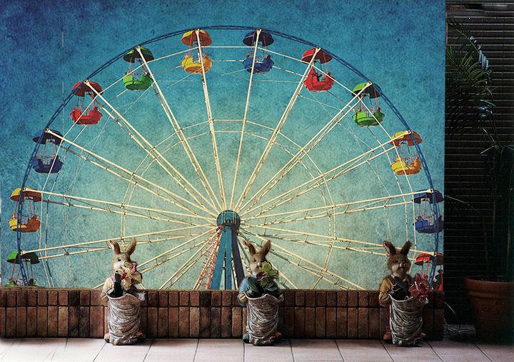 3D Ferris Wheel 556 Wall Paper Wall Print Decal Wall Deco Wall Indoor Murals