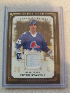 2008-09-UD-Masterpieces-Canvas-Clippings-Peter-Stastny-Patch