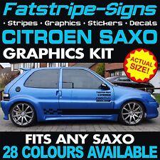 CITROEN SAXO GRAPHICS CAR VINYL DECALS STRIPES STICKERS VTR VTS 1.1 1.4 1.6 D