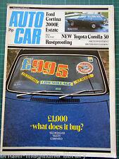 Autocar 15/2/1975 Mercedes 300SL Gullwing vs C111 Toyota Corolla 30 Ford Cortina