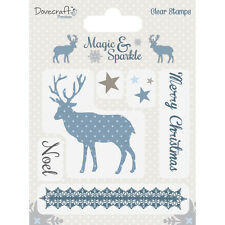 7 CLEAR STAMPS Silikon Stempel RAYHER Christmas Winter Elch MAGIC + SPARKLE 317