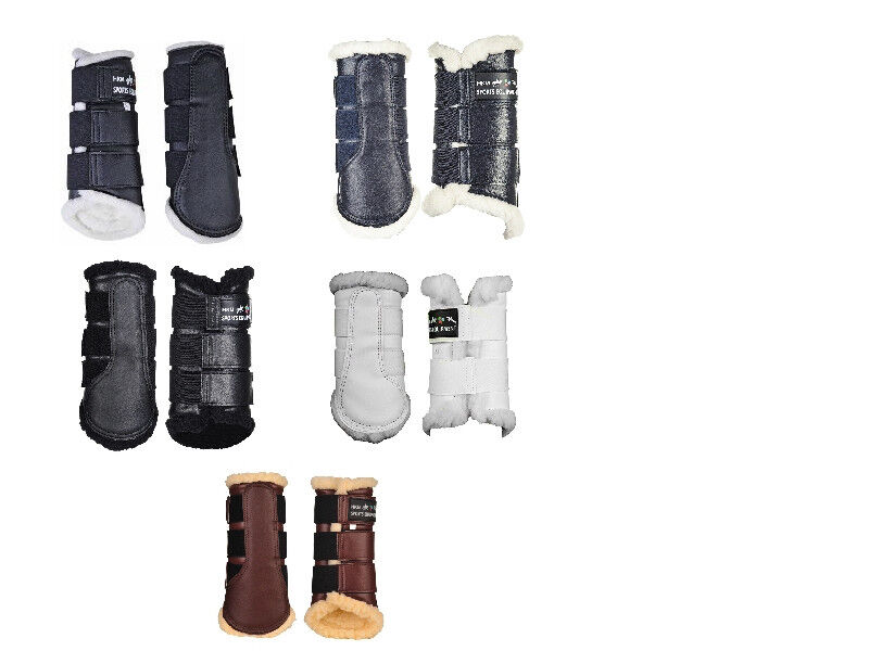 HKM Comfort FLEECE LINED Brushing Boots   EQUI LEATHER   ALL Sizes Colours