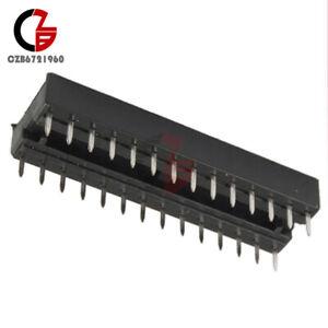 10PCS-28-Pin-Narrow-DIP-IC-Sockets-Adaptor-Solder-Type-Socket-2-54mm-Pitch