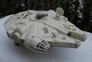 VINTAGE STAR WARS COMPLETE MILLENNIUM FALCON VEHICLE + FIGURES KENNER WORKS!