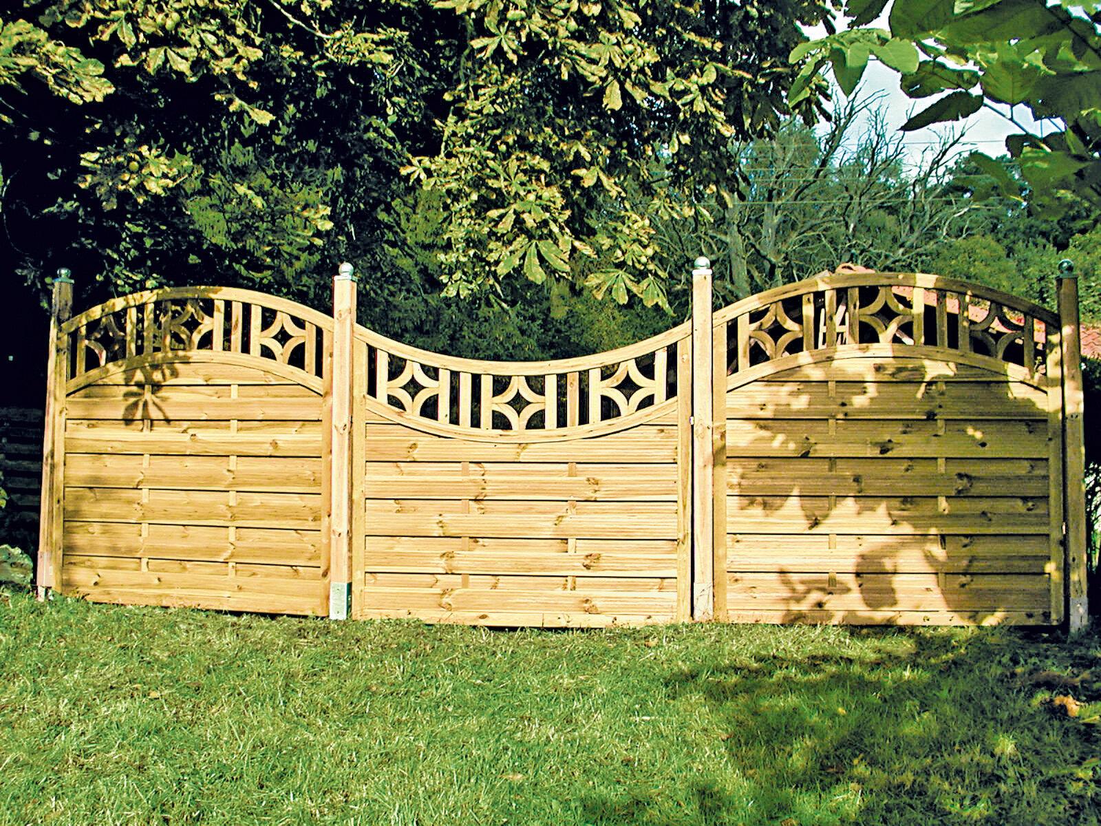 Details zu Gartentor zu Sichtschutzzaun Louisiana Holzzaun Holztor Sichtschutz Gartenzaun