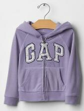 Baby Gap Girl Floral Logo Zip Hoodie Size 2 Years Freesia New With Tags