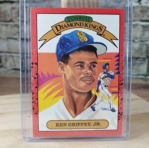 1989 Donruss Diamond Kings Ken Griffey Jr Card # 4 Seattle Mariners OF MLB