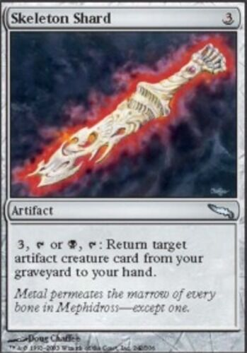 4x Skeleton Shard Light Play, English Mirrodin MTG Magic