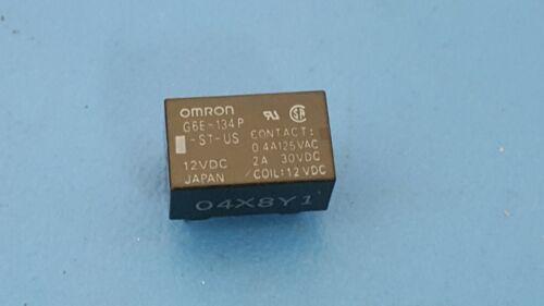 G6E-134P-ST-US-DC12 RELAY GEN PURPOSE SPDT 2A 12VDC OMRON 2 Pcs Through Hole