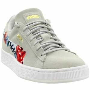 Puma Suede Hyper Embellished Womens  Sneakers Shoes Casual   - Grey