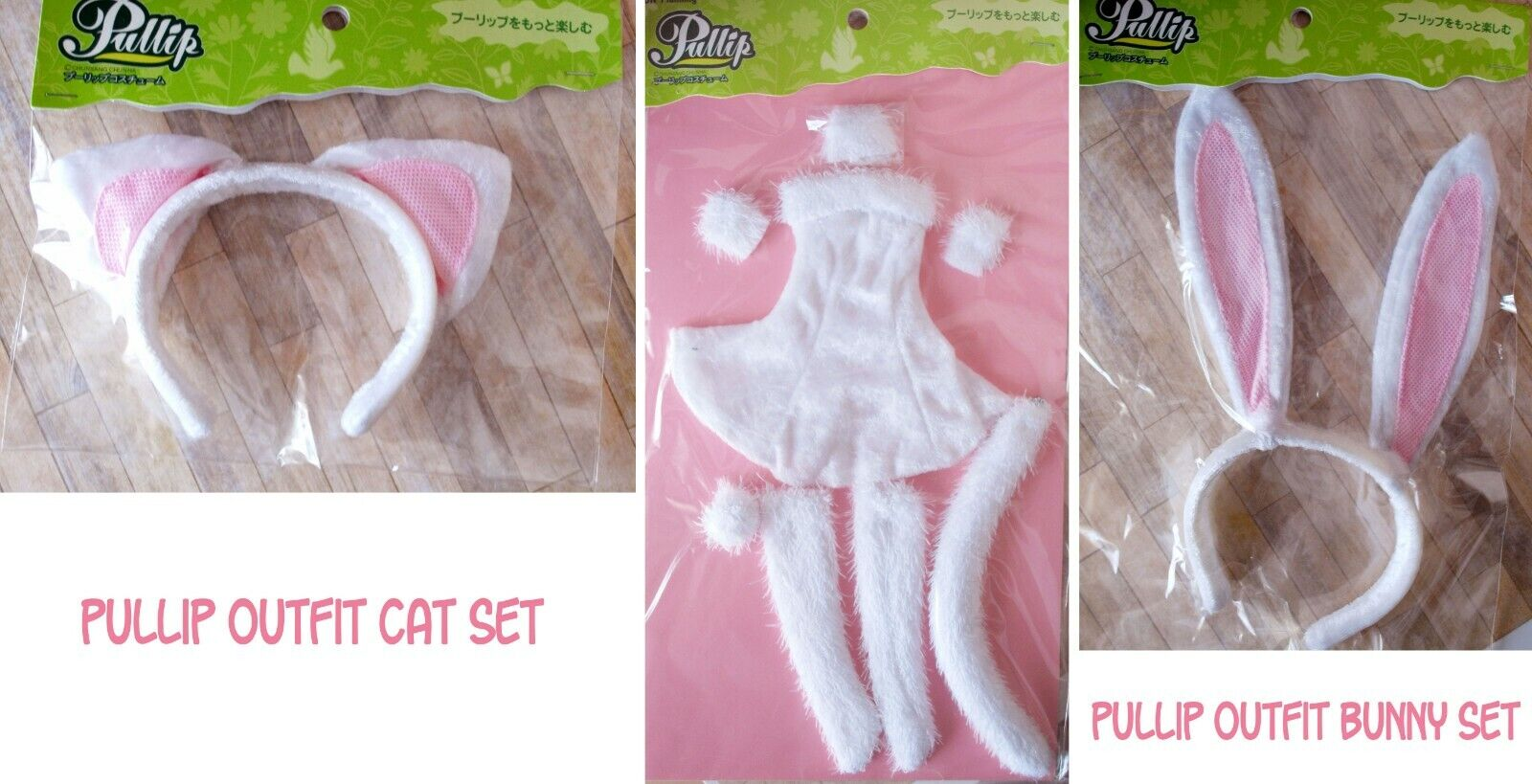 Pullip Outfit Cothes blanc cat dress + bunny ears set Series Summer Collection