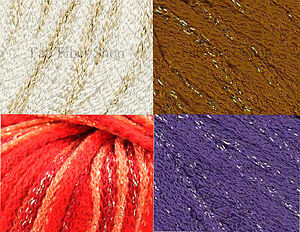 KFI-Sparkle-100g-Super-Bulky-Rufflle-Yarn-Color-Choice-Knit-Crochet-FS