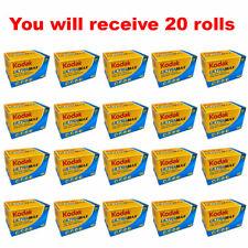 20 Rolls Kodak UltraMax 400 35mm Film GC24 135-24 Exp Gold Color Print Expired