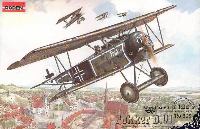 FOKKER D.VI -  WW I FIGHTER (KAISERLICHE LUFTWAFFE MARKINGS) 1 32 RODEN