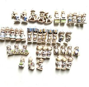 Lot Of 40 Vintage Hochschild's Little People Ceramic Boy Girl Ornaments