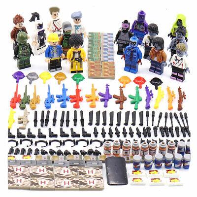 8pcs//lot Military Survival War Building Blocks Bricks Figures Models Sets Toys
