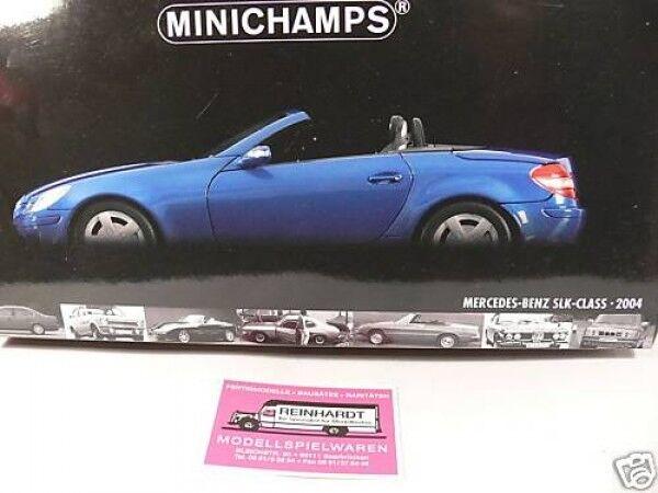 1 18 Minichamps MB SLK class 2004 blu
