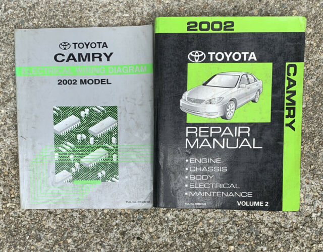 2002 Toyota Camry Repair Service Volume 2 And Electrical Wiring Diagram