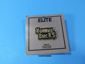 AEW NJPW Young Bucks Enamel Lapel Pin Official New Japan Pro Wrestling Jackson