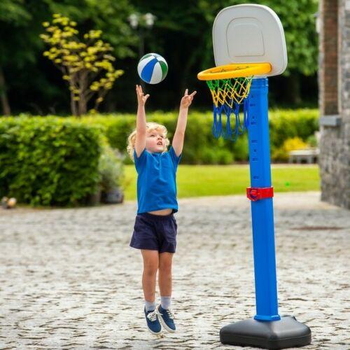 Basketball Stand Kids Childrens Boys Girls Hoop Backboard Net Ball Outdoor