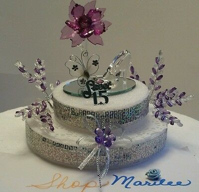 Wondrous Quinceanera Sweet 15 16 Birthday Cake Topper Party Centerpiece Personalised Birthday Cards Paralily Jamesorg
