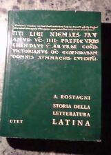 STORIA DELLA LETTERATURA LATINA II L'IMPERO DA AUGUSTO A NERONE ROSTAGNI UTET
