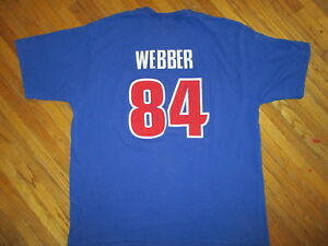 hot sale online dd751 03513 DETROIT PISTONS CHRIS WEBBER 84 JERSEY T SHIRT Michigan Fab ...