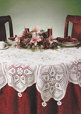 Crochet Pattern ~ JARDIN DES FLEURS TABLECLOTH Christmas ~ Instructions