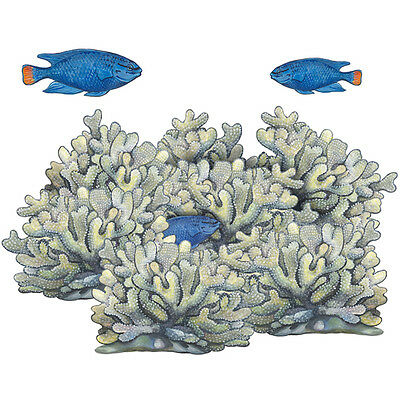 Underwater Sea Fish Blue Coral Reef Wall Decals Mural