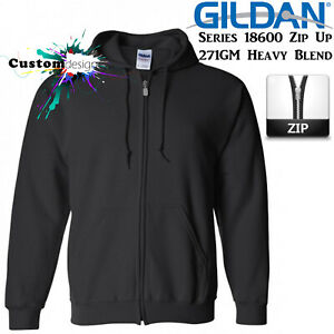 Gildan-Black-Zip-Up-Hoodie-Heavy-Blend-Basic-Hooded-Sweatshirt-Sweater-Men