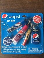 Pepsi Lip Set Lip Gloss Keychain Charm Lip Balm Wand Swirl On The Go