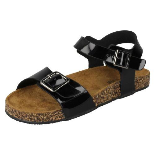Girls Spot On Flat Buckle Strap /'Sandals/'