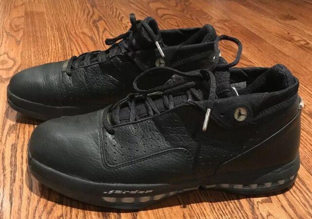 best service 3a041 c66eb 2001 Nike Air Jordan 16 XVI Low OG Black Metallic Silver Sz 12 136069 001